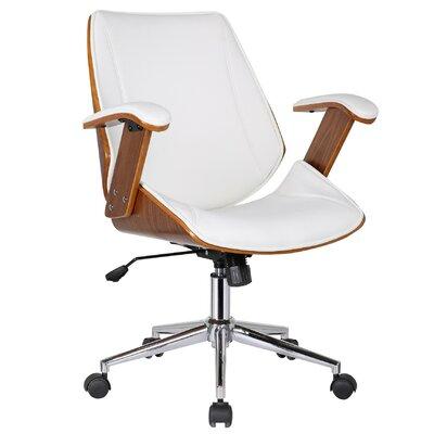 Ericksen Mid-Back Leather Desk Chair