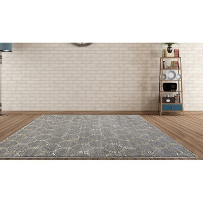 Dossantos Geometric Gray Stain Resistant Indoor/Outdoor Area Rug Rug Size: 52 x 72