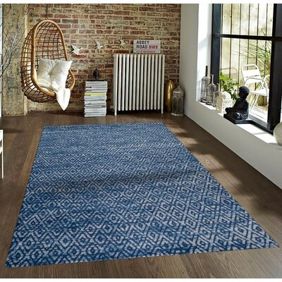 Dossantos Blue Indoor/Outdoor Area Rug Rug Size: 2' x 3'