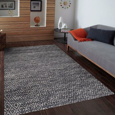 Dossantos Gray Indoor/Outdoor Area Rug Rug Size: 5' x 7'
