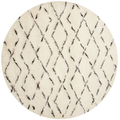 Bermondsey Tan/Brown Shag Area Rug Rug Size: Square 8