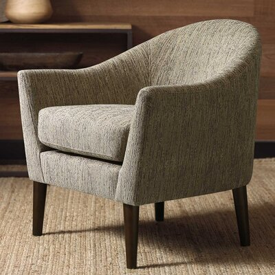 Thompson Barrel Chair Upholstery: Silver Gray