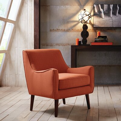 Bridgeton Armchair Upholstery: Orange