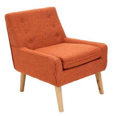 Reese Tufted Fabric Retro Slipper Chair Upholstery: Orange
