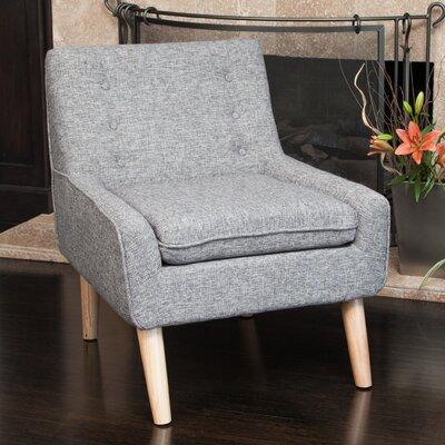Cayeman Tufted Fabric Retro Slipper Chair Color: Grey