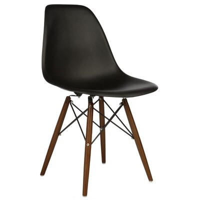 Harrison Solid Wood Dining Chair Finish: Black