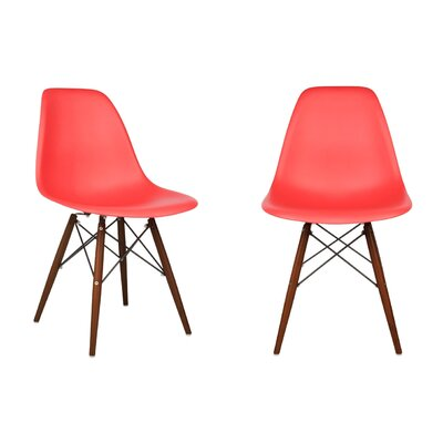 Harrison Side Chair Finish: Red