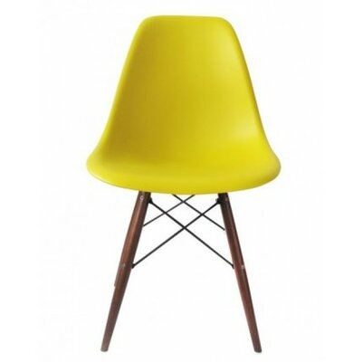 Harrison Solid Wood Dining Chair Finish: Yellow