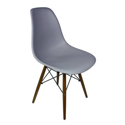 Harrison Solid Wood Dining Chair Finish: Gray