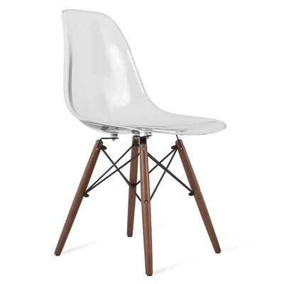 Harrison Solid Wood Dining Chair Finish: Clear