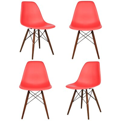 Harrison Matte Side Chair Finish: Red