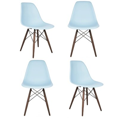 Harrison Matte Solid Wood Dining Chair Finish: Light Blue