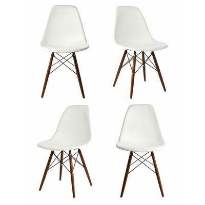 Harrison Matte Solid Wood Dining Chair Finish: White