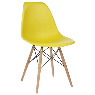 Harrison Solid Wood Dining Chair Upholstery: Dark Yellow