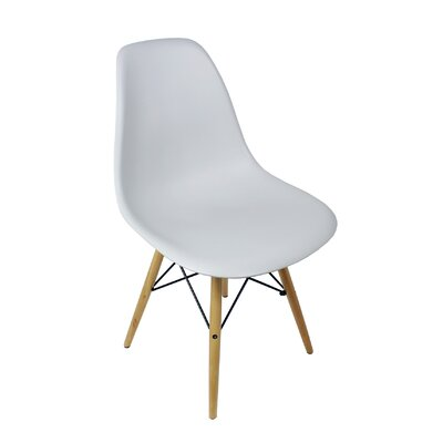 Harrison Solid Wood Dining Chair Upholstery: Light Gray