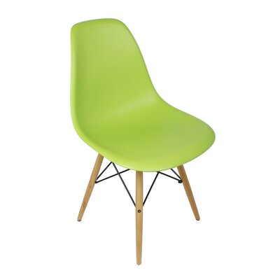 Harrison Solid Wood Dining Chair Upholstery: Green