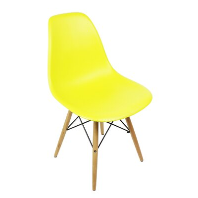 Harrison Solid Wood Dining Chair Upholstery: Light Yellow