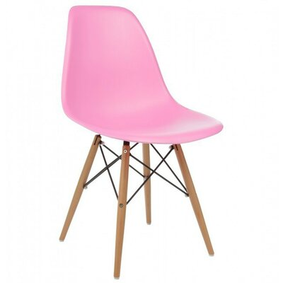 Harrison Solid Wood Dining Chair Upholstery: Pink
