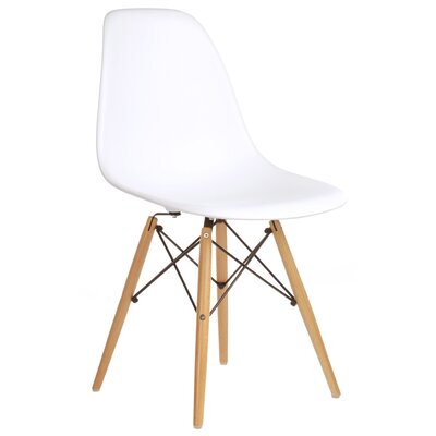 Harrison Side Chair Upholstery: White