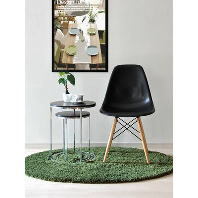 Harrison Solid Wood Dining Chair Upholstery: Black