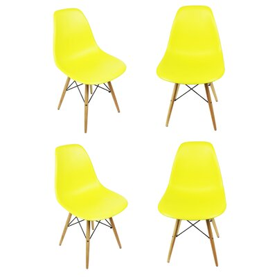 Harrison Side Chair Upholstery: Light Yellow