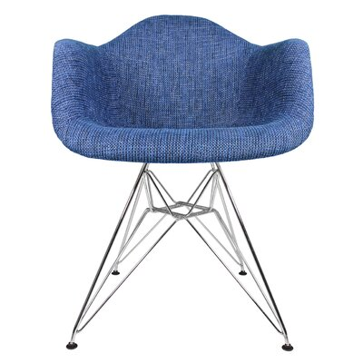 Ginger Modern Armchair Upholstery: Denim Blue