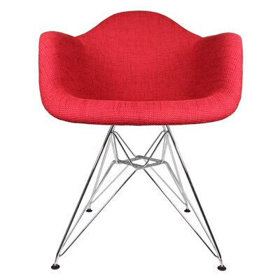 Ginger Modern Armchair Color: Vibrant Red