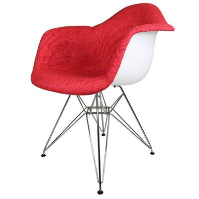 Ginger Modern Armchair Upholstery: Vibrant Red