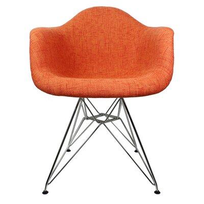 Ginger Modern Armchair Upholstery: Orange