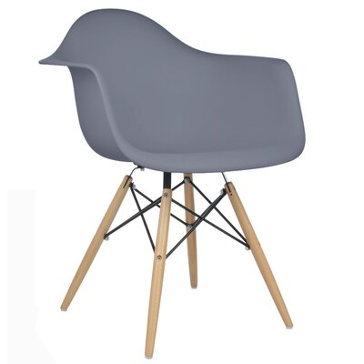 Regina Arm Chair Finish: Dark Gray