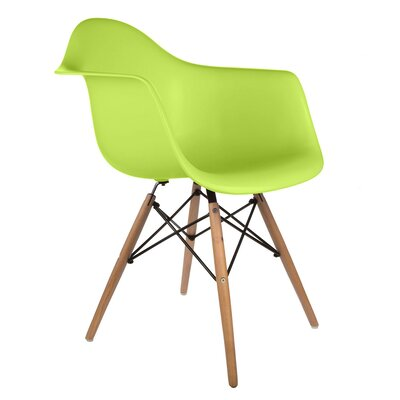 Regina Arm Chair Finish: Green