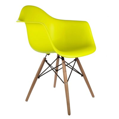 Regina Arm Chair Finish: Light Yellow