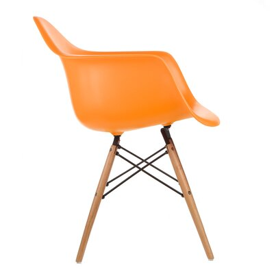 Harrison Solid Wood Dining Chair Finish: Orange