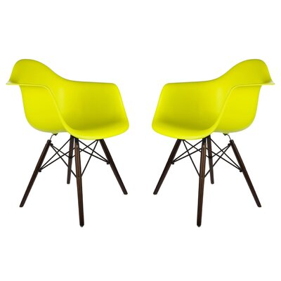 Hamburg Contemporary Solid Wood Dining Chair Finish: Light Yellow