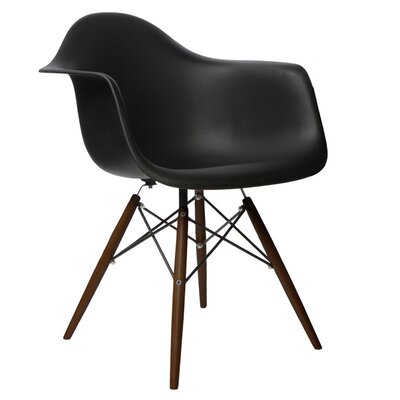 Hamburg Modern Solid Wood Dining Chair Finish: Black