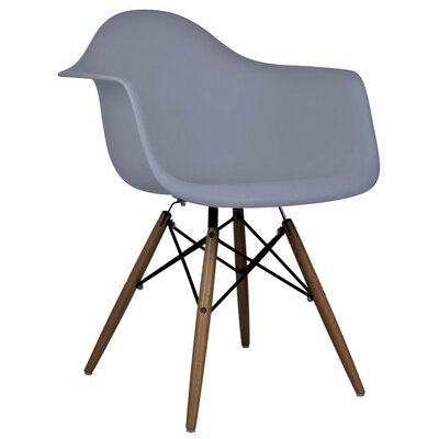 Hamburg Modern Solid Wood Dining Chair Finish: Dark Gray