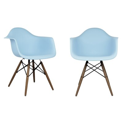 Hamburg Contemporary Solid Wood Dining Chair Finish: Light Blue
