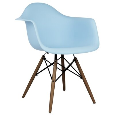 Hamburg Modern Solid Wood Dining Chair Finish: Light Blue