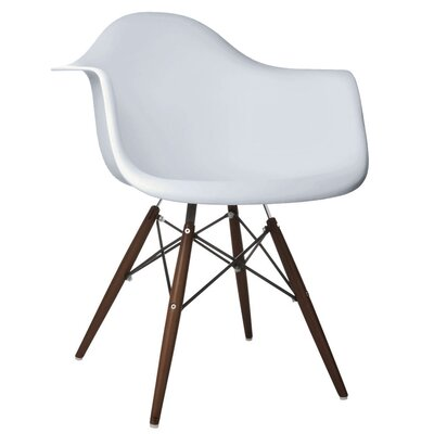 Hamburg Modern Solid Wood Dining Chair Finish: Light Gray