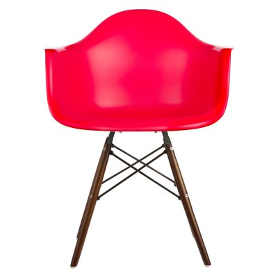 Hamburg Solid Wood Dining Chair Finish: Red