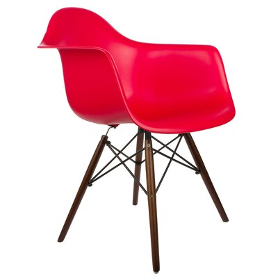 Hamburg Modern Solid Wood Dining Chair Finish: Red