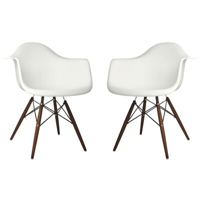 Hamburg Contemporary Solid Wood Dining Chair Finish: White
