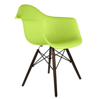 Hamburg Modern Solid Wood Dining Chair Finish: Green