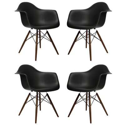 Hamburg Solid Wood Dining Chair Finish: Black