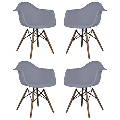Hamburg Solid Wood Dining Chair Finish: Dark Gray