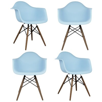 Ellington Arm Chair Finish: Light Blue