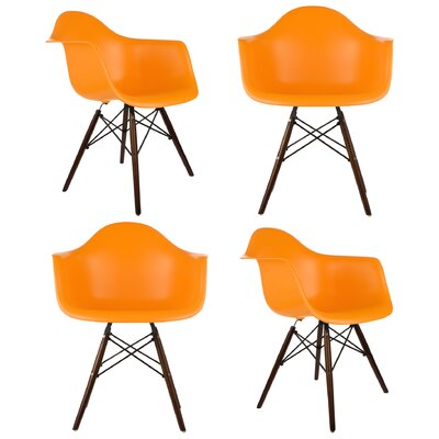 Hamburg Solid Wood Dining Chair Finish: Orange