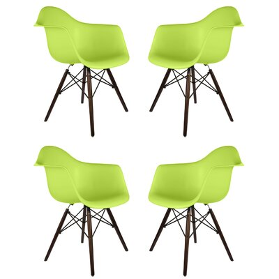 Hamburg Solid Wood Dining Chair Finish: Green