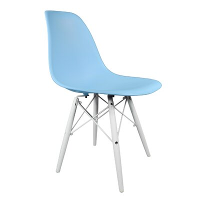 Hammond Rustic Solid Wood Dining Chair Finish: Light Blue