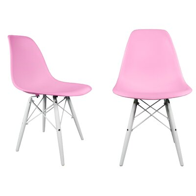 Hammond Modern Solid Wood Dining Chair Finish: Pink
